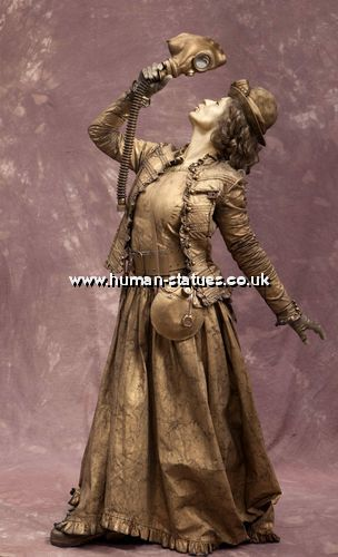 Steampunk Human Living Statues